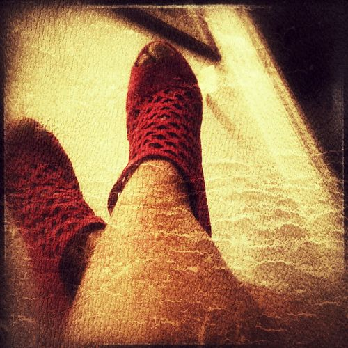 Red Shoes And Bear Legs