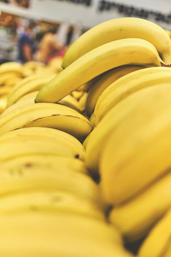 Close-up of yellow fruits for sale in market