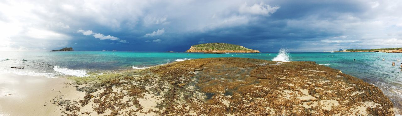 Ibiza Cala Conta Sea Beauty In Nature Water Beach Scenics Horizon Over Water Cloud - Sky Tranquility Nature Sand Idyllic No People Tranquil Scene Travel Destinations