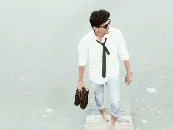 Wayfarer Loafers Cassual River Riverside Water Blackandwhite Tie Wristwatch