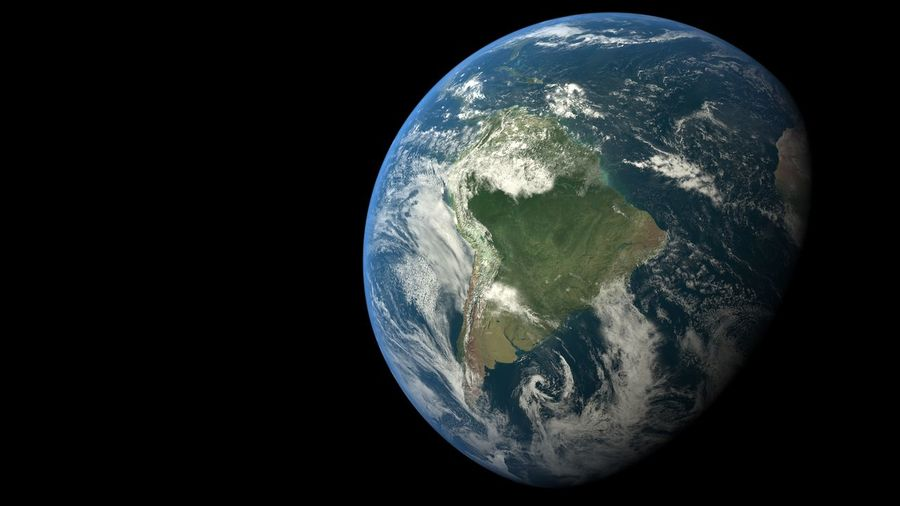 High Resolution Hello World Rio De Janeiro Planet Brazil Detail Earth From Space Earth_Collections Space Continents 3D Science Astronomy Black Background Nature Night Space Exploration Sphere