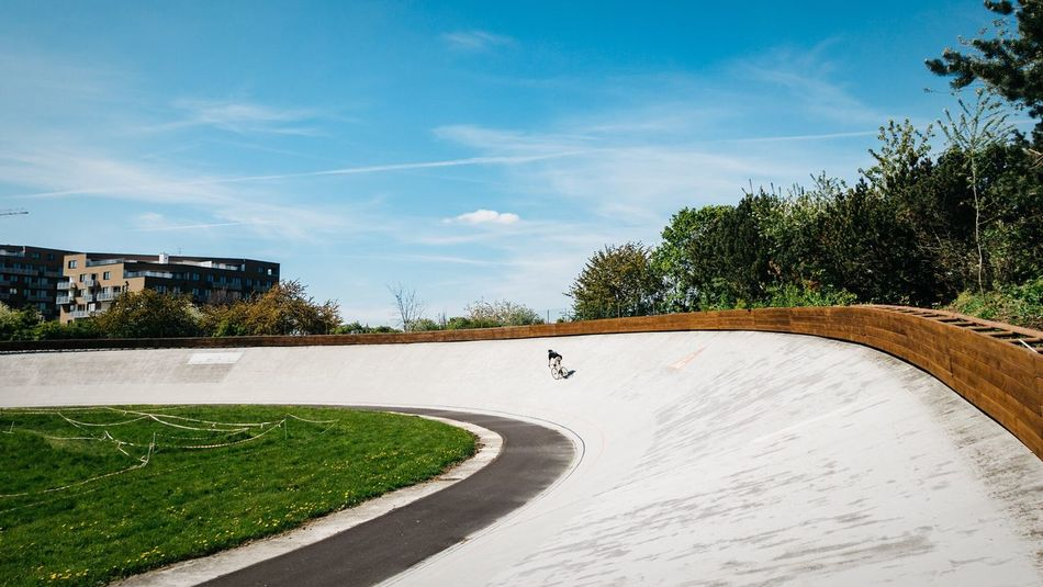 Let's ride Tree Day Sky Growth Outdoors Built Structure No People Architecture Nature Velodrome CyclingUnites Cycling Track Track Bike Bicycle Sport Modern World Fixed Gear Praha Praha ❤️