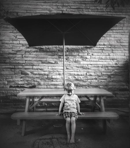 The day was hot. He asked for a cool, shady spot. We found this. IPhoneography Summer EyeEm Best Shots Black & White Blackandwhite Kids Light And Shadow Portrait Austin Texas IPS2015BW