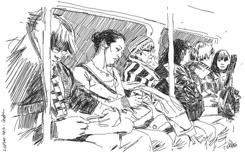Art Train Drawing Kaay