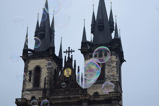 Prague Czech Republic Stunning Architecture Blown Bubbles Rainy Day but still Amazing Gingerbreadtown Moderndracula'shome