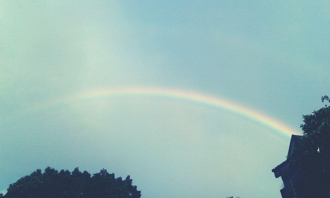 Hello World Rainbow Rainy Day Cold Days Winter