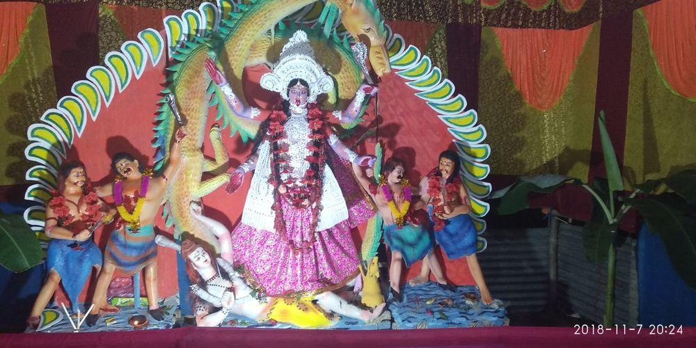 Ma Kali Multi Colored Elephant Celebration Cultures Tradition