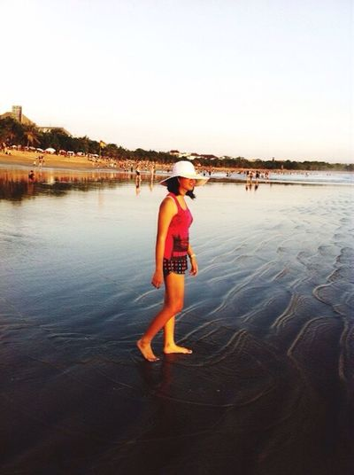 Walking Alone... Beach Sanur Taking Photos Enjoying Life Nature Clouds And Sky Throwback Girlwhotravels