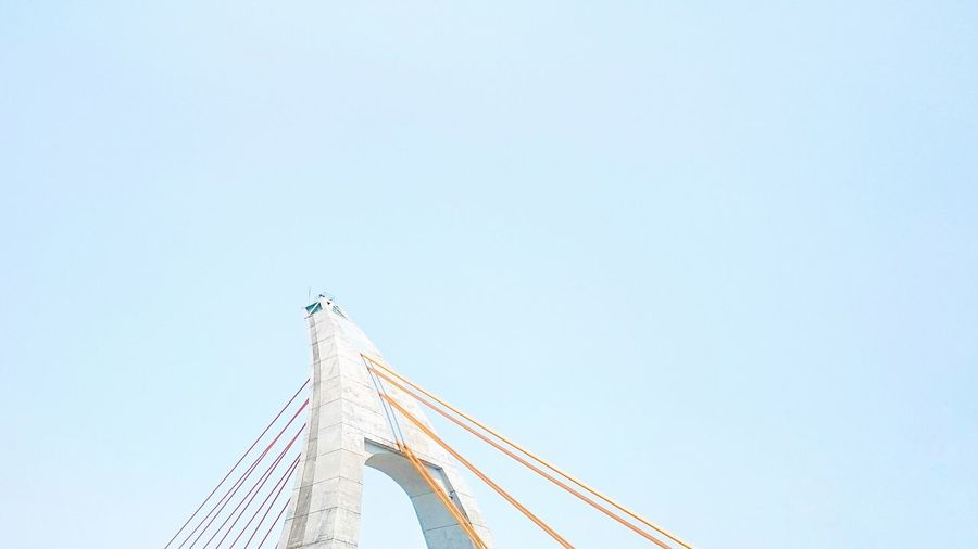 Bridge Copy Space Built Structure Architecture Low Angle View Day Bridge - Man Made Structure Clear Sky Outdoors No People Suspension Bridge Sky Minimalism