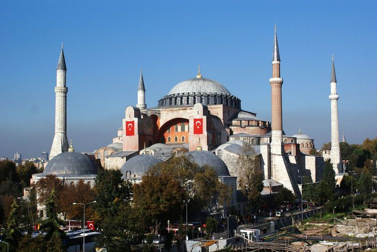 View Of Hagia Sophia Against Blue Sky