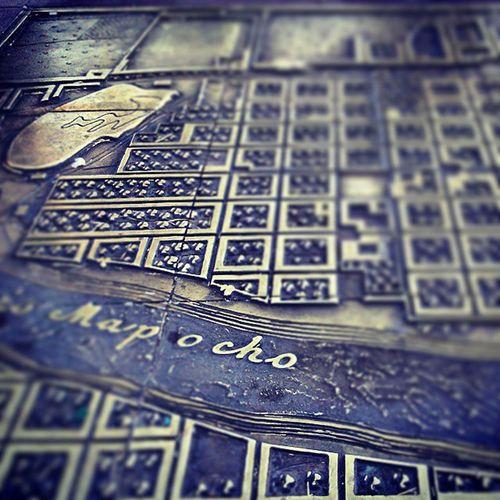 Plazadearmas Santiagoapie 1743 MapaEnBronce