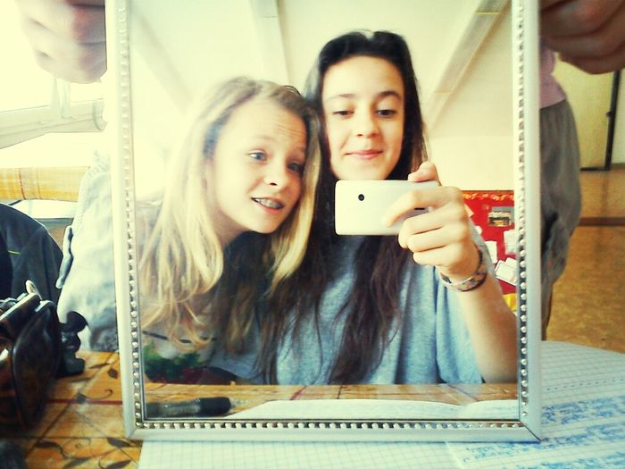 Just a photo with my classmate Simona ;-) Class That's Me Daydreaming