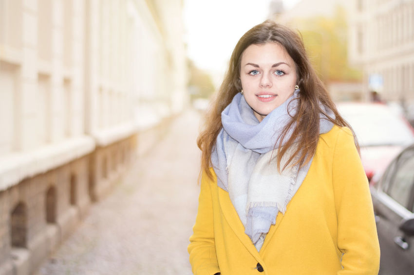 Paulin by www.eightTWOeightSIX.de Portrait People Beautiful Woman Long Hair Beauty Shooting Woman Girl Brunette German One Woman Only Adult Young Adult Beautiful People Outdoors Street City Fashion Lifestyle Germany Sachsen Leipzig One Person Front View