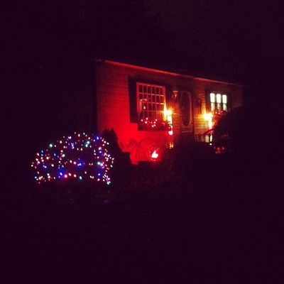 Cute house. Christmas lights. Iphoneonly 3GS Oshawa Badass