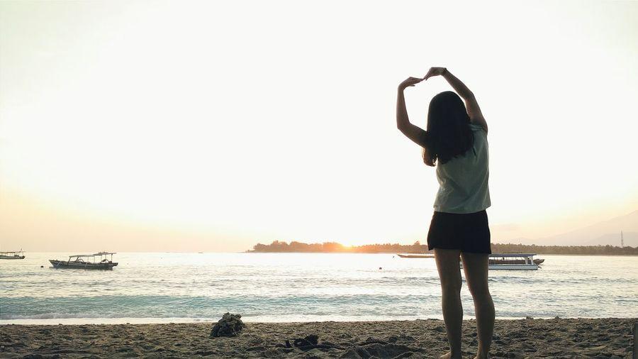 Creative Light And Shadow Silhouette Sunrise Beach Nature Landscape Travel Hello World Enjoying Life Summer Views