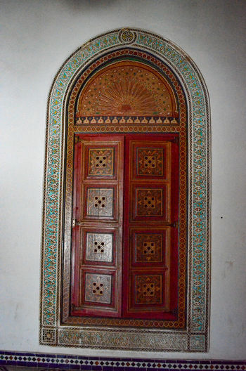 View of ornate door in building