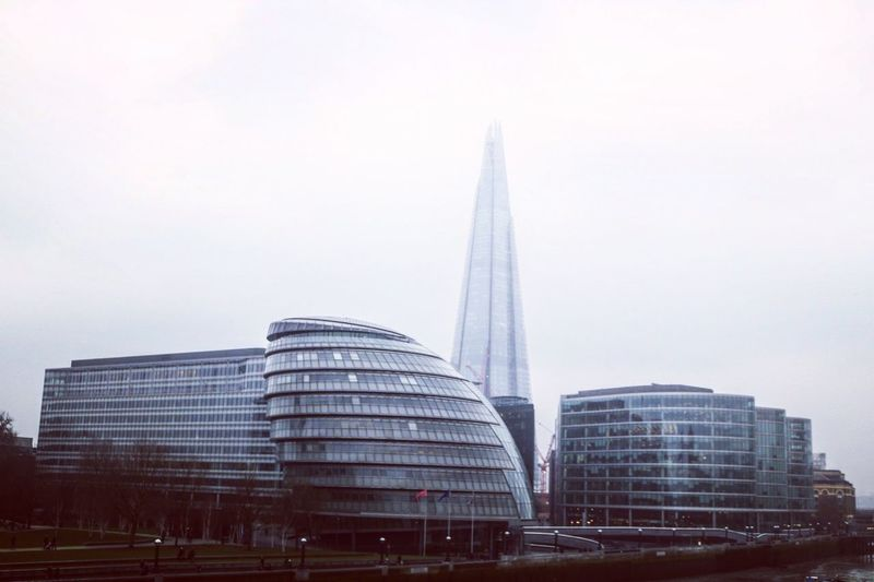 City hall and the Shard in London Architecture Architecture Building Building Exterior Built Structure City City Life Cityhall Cityscape Day Hochhaus Londoncityhall Modern Modernarchitecture No People Outdoors Shard Sky Skyscraper Theshard Theshardlondon Tower Travel Destinations
