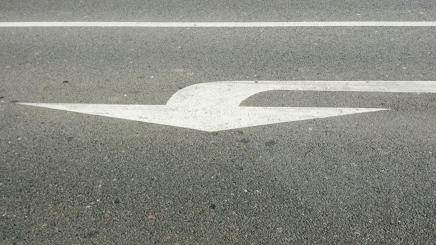 Road marking on street