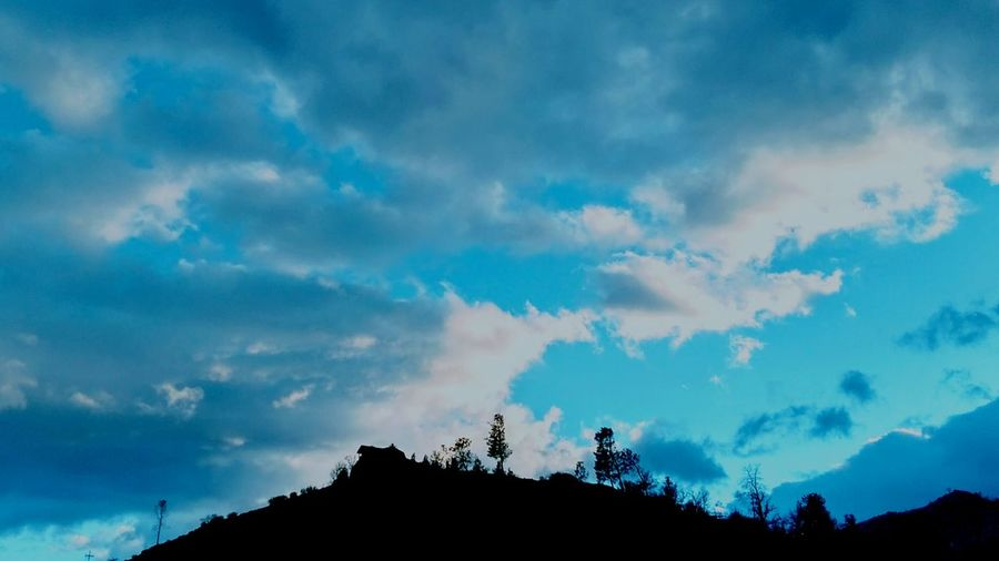 Top of the hill. Sky Cloud - Sky Tree Silhouette Nature Forest Sunset Mountain Dramatic Sky Beauty In Nature Low Angle View Outdoors No People Scenics Landscape Storm Cloud Day