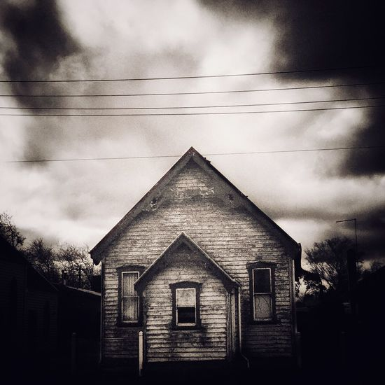 The Old Church Hall 2. Architecture Built Structure Sky Building Exterior House Cloud - Sky Cable Cloudy Cloud Outdoors Rural Scene Power Line  Day Façade No People Tranquility Tranquil Scene Storm Cloud Snapseed
