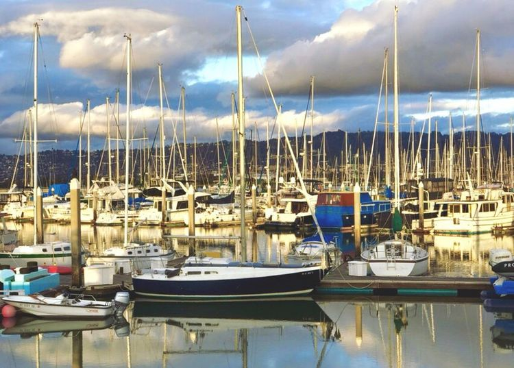 Nautical Vessel Moored Mast Transportation Sky Harbor Sailboat Cloud - Sky Mode Of Transport Boat Water Yacht Outdoors Day Marina Sea No People Port Nature Yachting IPhone 7 Plus L. Jeffrey Moore Adapted To The City