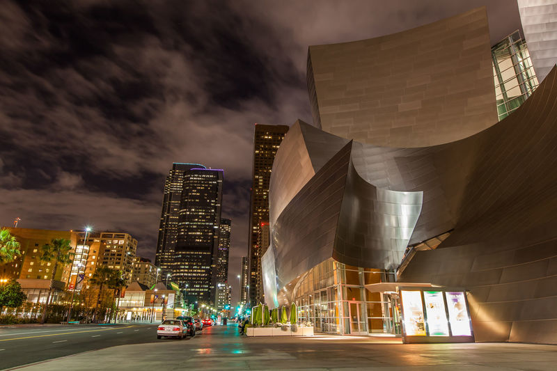 Disney Concert Hall in Downtown Los Angeles, California at night Walt Disney Concert Hall Skyscraper Sky Road Outdoors No People Night Modern Illuminated Downtown District Disney Concert Hall Cloud - Sky City Built Structure Architecture Los Angeles, California HDR EyeEmNewHere Disney California Dreamin