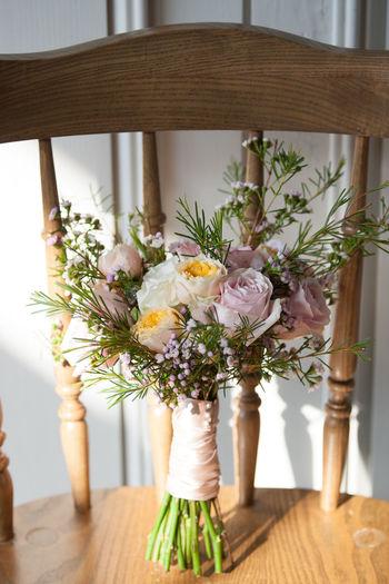 Arrangement Bouquet Celebration Centerpiece Close-up Day Flower Flower Arrangement Flower Head Fragility Freshness Indoors  Nature No People Table Vase Wedding White Color Wood - Material