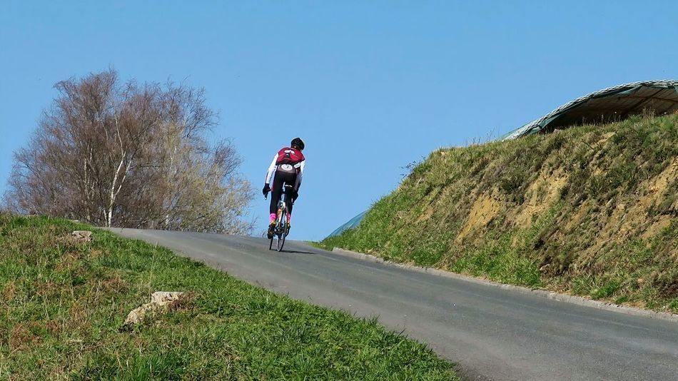 Reaching the top after the uphill struggle Celebrate Your Ride Cyclist Uphill Struggle Ride A Bike  Outdoors Sport Photography In Motion