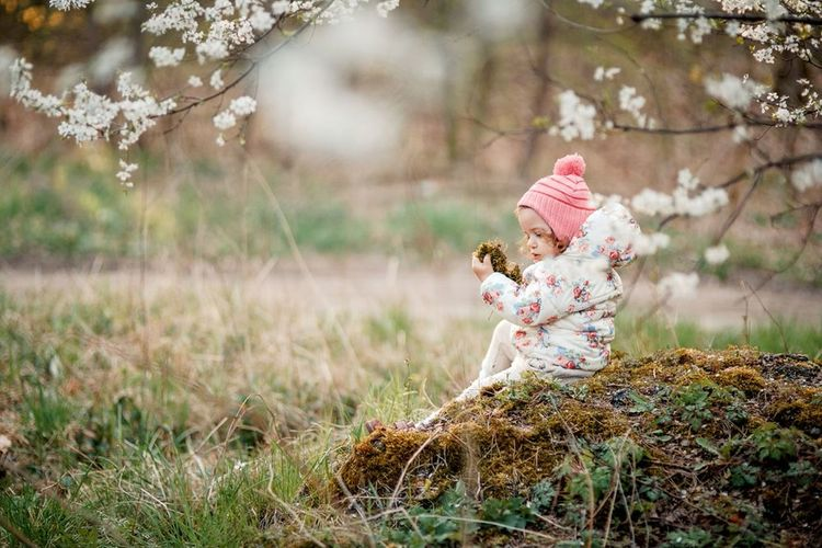 детскоефото ребенок малышка малыш девочка весна модница Relaxing фотографкалининград