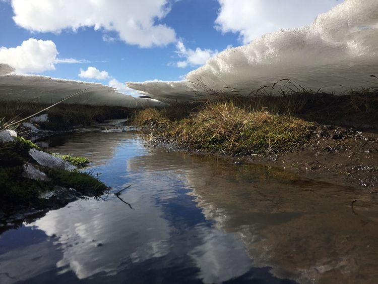 Iceland Cloud - Sky Water Sky Beauty In Nature Scenics - Nature Tranquil Scene Tranquility Reflection River Plant Non-urban Scene Day Nature Environment No People Idyllic Mountain Tree Outdoors Landscape