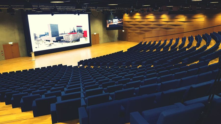Interior of empty auditorium