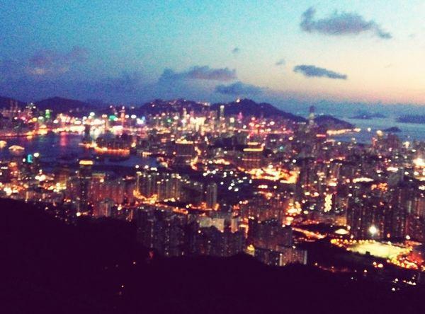 Night scenary of Hong Kong