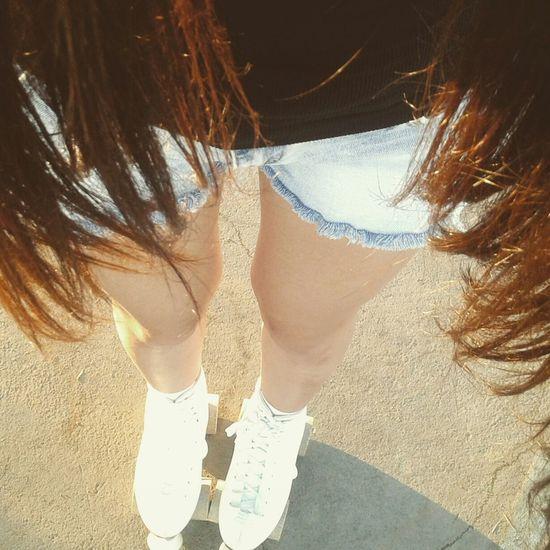 Rollerskating Rollers Patines Summer Long Hair Legs Sun Thighgap Outfit Ootd