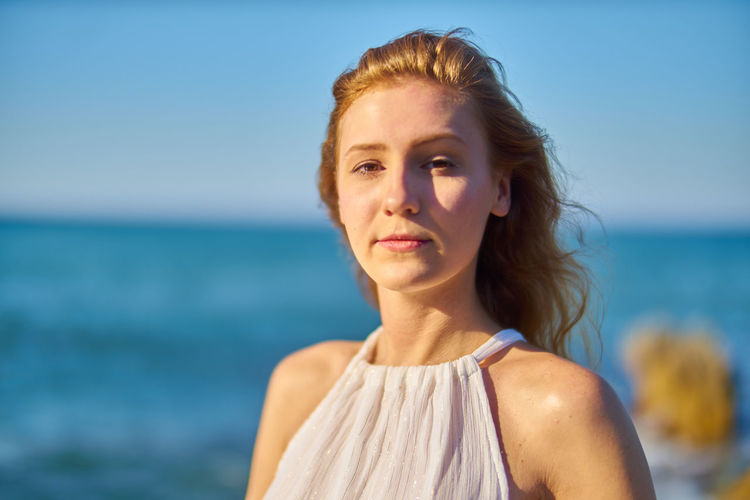 Beach Beautiful Woman Beauty Beauty In Nature Blue Close-up Day Focus On Foreground Headshot Horizon Over Water Nature One Person One Woman Only One Young Woman Only Only Women Outdoors Portrait Real People Sea Sky Summer Sunlight Water Young Adult Young Women