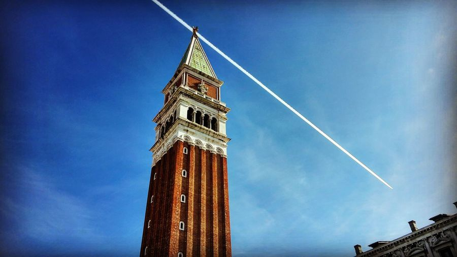 San Marco Bell Tower, Venezia, Italy. Blue Tower Clock Clock Tower Low Angle View Clear Sky Sky No People Outdoors Time Day Architecture Midnight San Marco Square San Marcos Cathedral San Marco Venezia Venezia Italia Venezia Italy Venezia San Marco EyeEmNewHere Venice Venice View Travel Destinations Sunlight Your Ticket To Europe