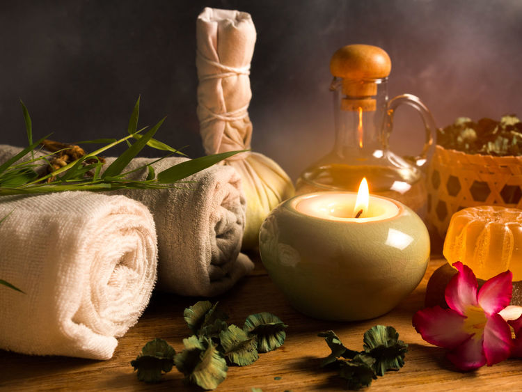 Spa massage items,aroma oil,herbal compress ball,soap,salt scrub and towel in candlelight. Herb Relaxing Alternative Medicine Alternative Therapy Aromatherapy Beauty In Nature Beauty Spa Beauty Treatment Body Care Candle Cinnamon Flame Flower Freshness Health Spa Herbal Medicine Leaf Nature Oil Salt - Mineral Scented Spa Spa Treatment Towel Wellbeing