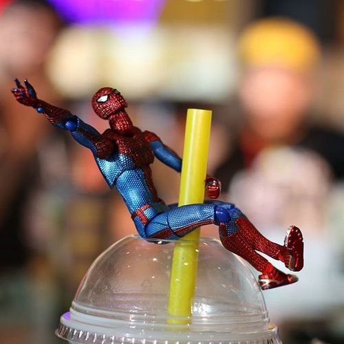 Spidey came in like a Boba Tea Fwebruary @wermss_ & @sweet_mariee did this one without me. I was busy drinking my Boba Spidey had a blast this weekend. Thanks @wermss_ @sweet_mariee
