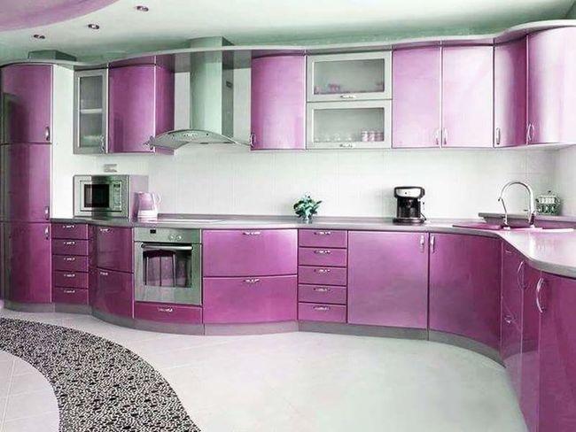 Domestic Kitchen Cabinet Purple Domestic Room Home Interior Filing Cabinet Furniture Architecture