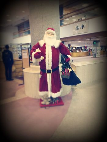 Santa in the library! Christmas Holiday Enjoying Life