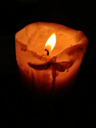 Candle Candle Orange Color Black Background No People Close-up Darkdays