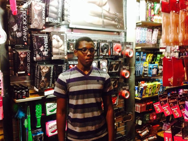 First time in Spencers. He wasn't ready. Awkard Spencers