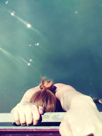 Relaxing Taking Photos That's Me Check This Out Hanging Out Enjoying Life Swim Balaton Lake Water Girl Back Bun Photo From Above Crawl Crawling Hanging Colour Of Life Long Goodbye An Eye For Travel