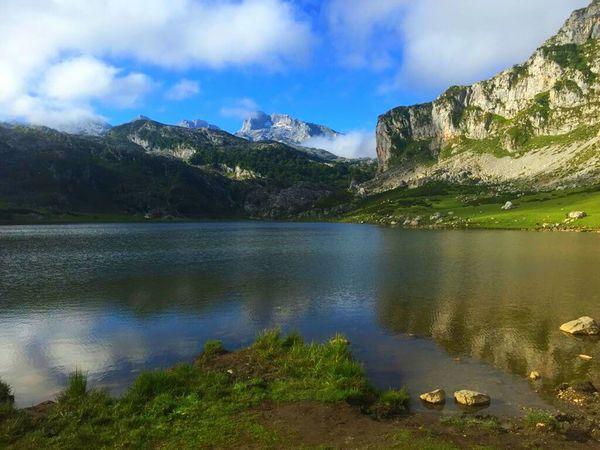 Lagosdecovadonga Mountain Tranquil Scene Sky Water