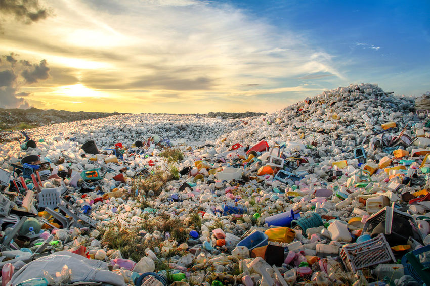 Plastic waste dumping site Cloud - Sky DUMPING SITE Nature Outdoors Plastic Pollution Recycle Results Sky Sunset Toxic Waste Waste Management