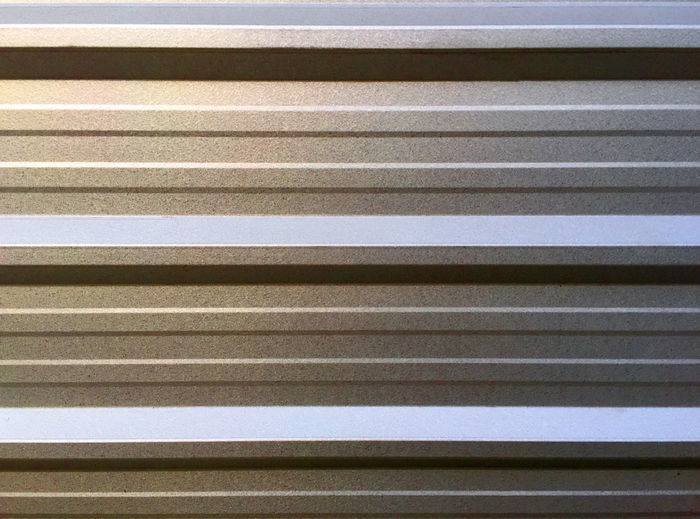 Glossy Extruded Aluminum Wall Construction Aluminum Backgrounds Close-up Corrugated Iron Day Decorative Extruded Full Frame Interior Metal Industry No People Outdoors Pattern Silver Color Textured