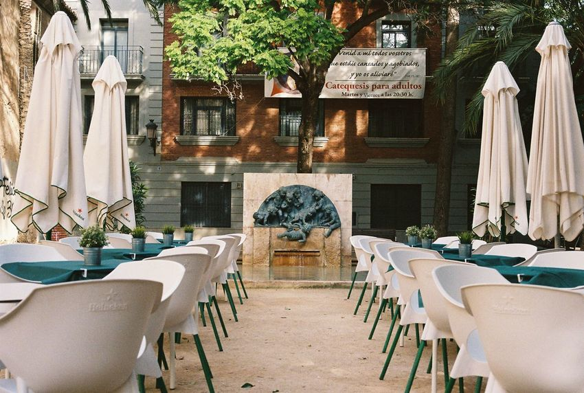 Al Fresco Al Fresco Dining Architecture Chair Courtyard  Day Food And Drink Industry Luxury No People Outdoors Table Travel