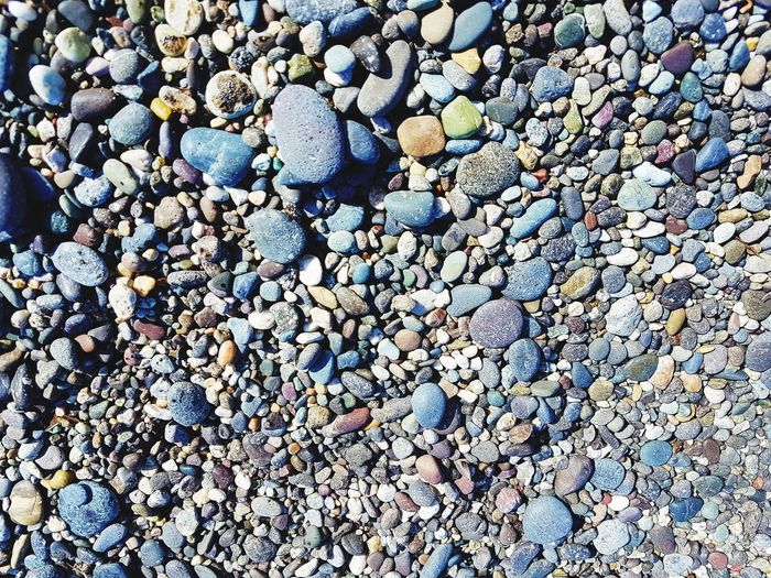 High Angle View Pebble Beach Outdoors Backgrounds Nature Beauty In Nature Close-up EyEmNewHere