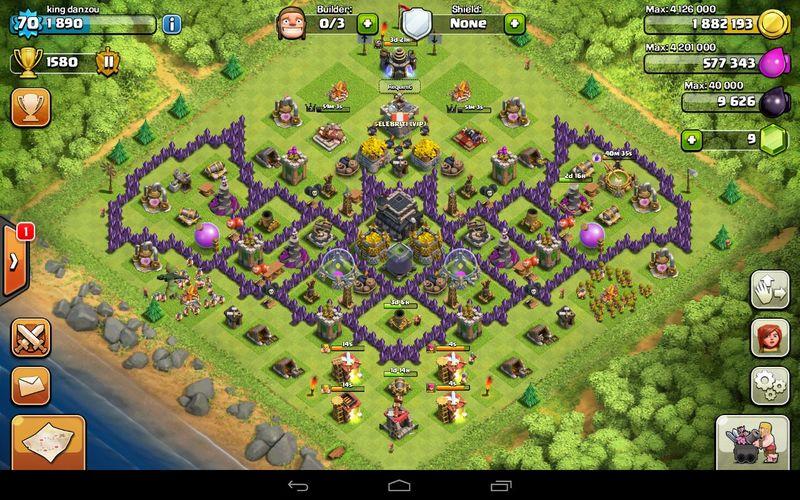 Clash Of Clans , My Bat Base