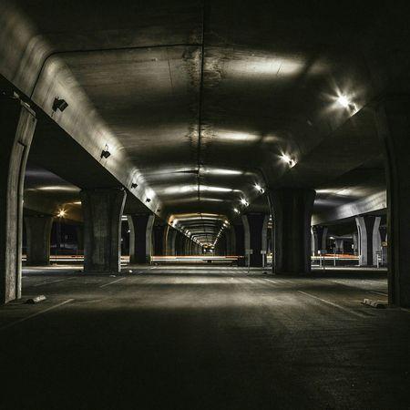 Under the Over Architecture Street Street Photography Pillars Night Nightphotography Long Exposure Urban Urban Geometry Urban Landscape Cities At Night Sanantonio Satx Texas