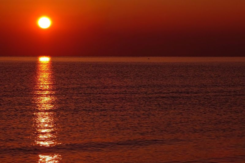 Sunrise Travel Travel Destinations Water Sunset Sky Sea Reflection Scenics - Nature Tranquility Horizon Over Water Sun Nature Horizon Waterfront Sunlight Orange Color Idyllic Outdoors Tranquil Scene Non-urban Scene No People Beauty In Nature